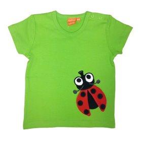 Grön T-shirt med nyckelpiga (74/80)