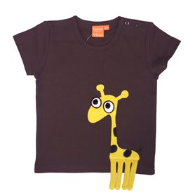 Brun T-shirt med giraff