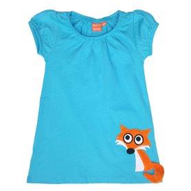scuba blue dress with fox