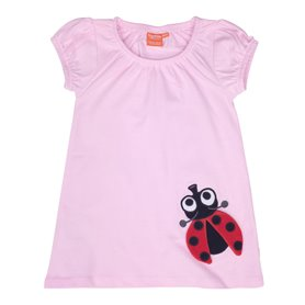 Light pink dress with ladybug