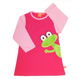 Pink nightgown with frog