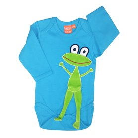 Turquoise body with frog