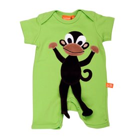 Green jumpsuit with monkey