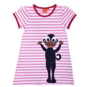 pink/white dress with monkey