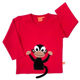 Red shirt with monkey