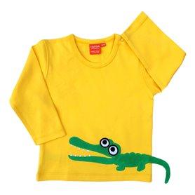 Gul tröja med krokodil