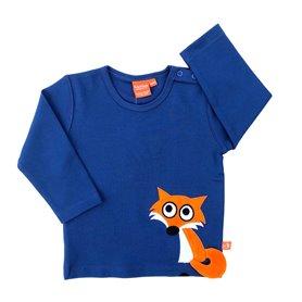 dark blue shirt with fox