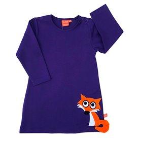 Purple dress with fox