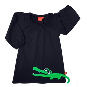 Black dress with crocodile
