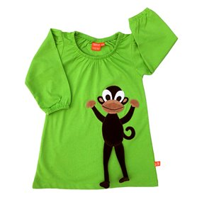 Green dress with monkey