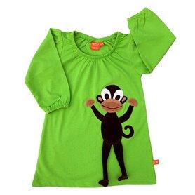 Grön klänning med apa