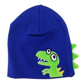 Blue dinosaur cap