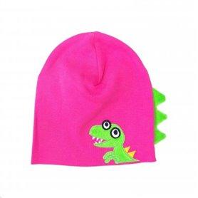 Pink dinosaur cap