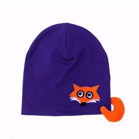 Purple fox cap