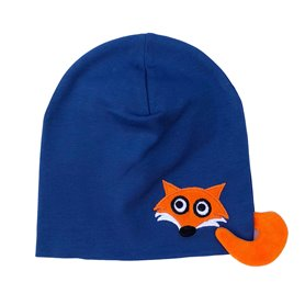 Dark blue fox cap