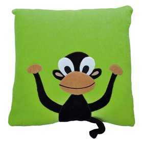 Green pillow with monkey