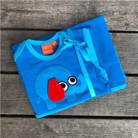 Baby present set (eko) - blå elefant