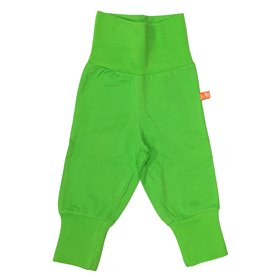 Green organic baby trousers