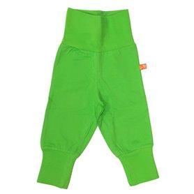 Green organic baby trousers