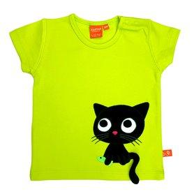 Limegrön T-shirt med katt