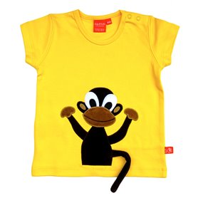 Yellow T-shirt with monkey