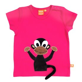 Cerise T-shirt with monkey