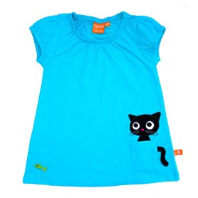 Scuba blue kitten dress