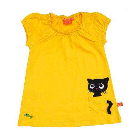 Klänning med katt i fickan
