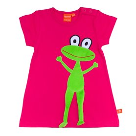 Fuchsia dress with frog