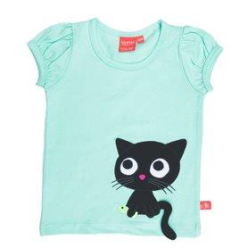 Mintgrön topp med katt