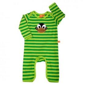 babypyjamas med apa, grönrandig (74/80)