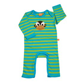 Ekologisk babypyjamas med apa (74/80)