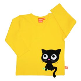 Cat shirt, yellow