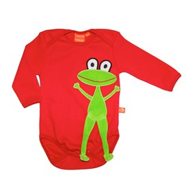 body with frog, red