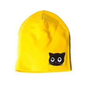Saffron cap with kitten