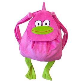 Rosa ryggsäck med groda