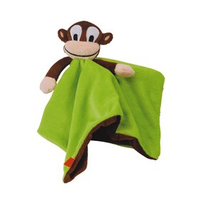 Green comfort blanket with monkey