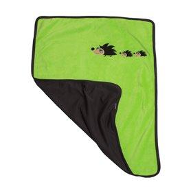 Grön fleece-filt med igelkottar
