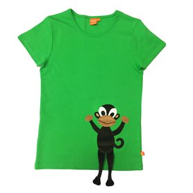 Green T-shirt with monkey (adult)