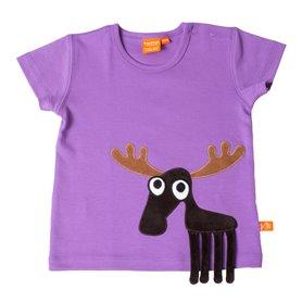 Ljuslila T-shirt med älg