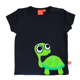 Svart T-shirt med sköldpadda
