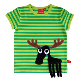Organic T-shirt with moose
