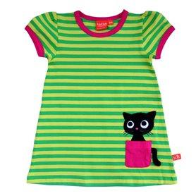 Katt-klänning, grön
