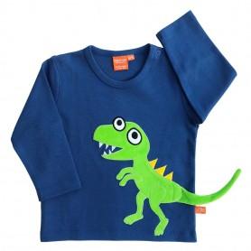 Dinosaurietröja, mörkblå