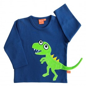 T Rex shirt, dark blue