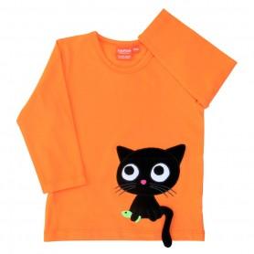 Neonorange tröja med katt