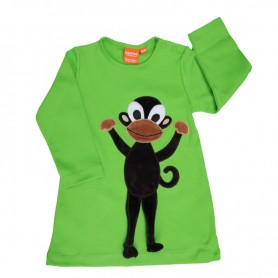 Klänning med apa, grön