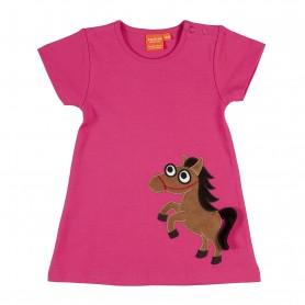 Cerise hästklänning (stl 74/80)