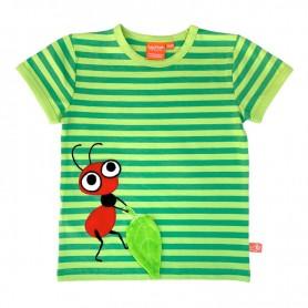 Randig barntröja med röd myra
