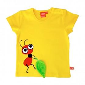 Gul t-shirt för barn med röd myra
